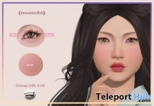 Eyes & Blush Applier For Catwa Head August 2018 Group Gift by {munchi} - Teleport Hub - teleporthub.com