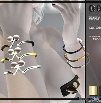 Pearly Bracelets September 2018 Group Gift by OOPS - Teleport Hub - teleporthub.com