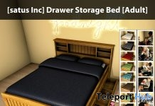 New Release: Drawer Storage Bed by [satus Inc] - Teleport Hub - teleporthub.com