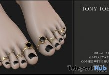 Tony Toe Rings August 2018 Group Gift by Candy Crunchers - Teleport Hub - teleporthub.com