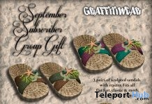 Sea Sandals September 2018 Subscriber Gift by Graffitiwear - Teleport Hub - teleporthub.com