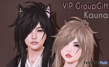 Kauna Hair September 2018 Group Gift by Ayashi - Teleport Hub - teleporthub.com