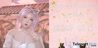 Rabbit Cartoon Cup & Pose September 2018 Group Gift by micamee - Teleport Hub - teleporthub.com