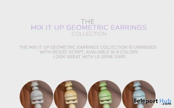 Mix It Up Geometric Earrings Collection September 2018 Group Gift by VERA - Teleport Hub - teleporthub.com