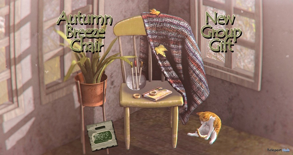Autumn Breeze Chair September 2018 Group Gift by crate - Teleport Hub - teleporthub.com
