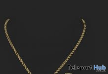 Med Gold Plug With Diamonds Necklace September 2018 Gift by BJEWLA - Teleport Hub - teleporthub.com