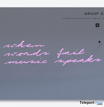 When Words Fail Sign September 2018 Group Gift by MULLOY - Teleport Hub - teleporthub.com