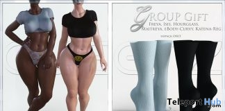 Top, Panties, & Socks September 2018 Group Gift by QUEENZ - Teleport Hub - teleporthub.com