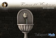 Medieval Wall Fountain September 2018 Group Gift by F&M - Teleport Hub - teleporthub.com
