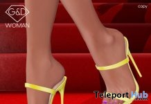 Mules Lilia Yellow September 2018 Group Gift by G&D The Italian Style - Teleport Hub - teleporthub.com