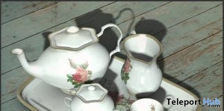 Victorian Tea Set September 2018 Group Gift by Six O'Clock - Teleport Hub - teleporthub.com