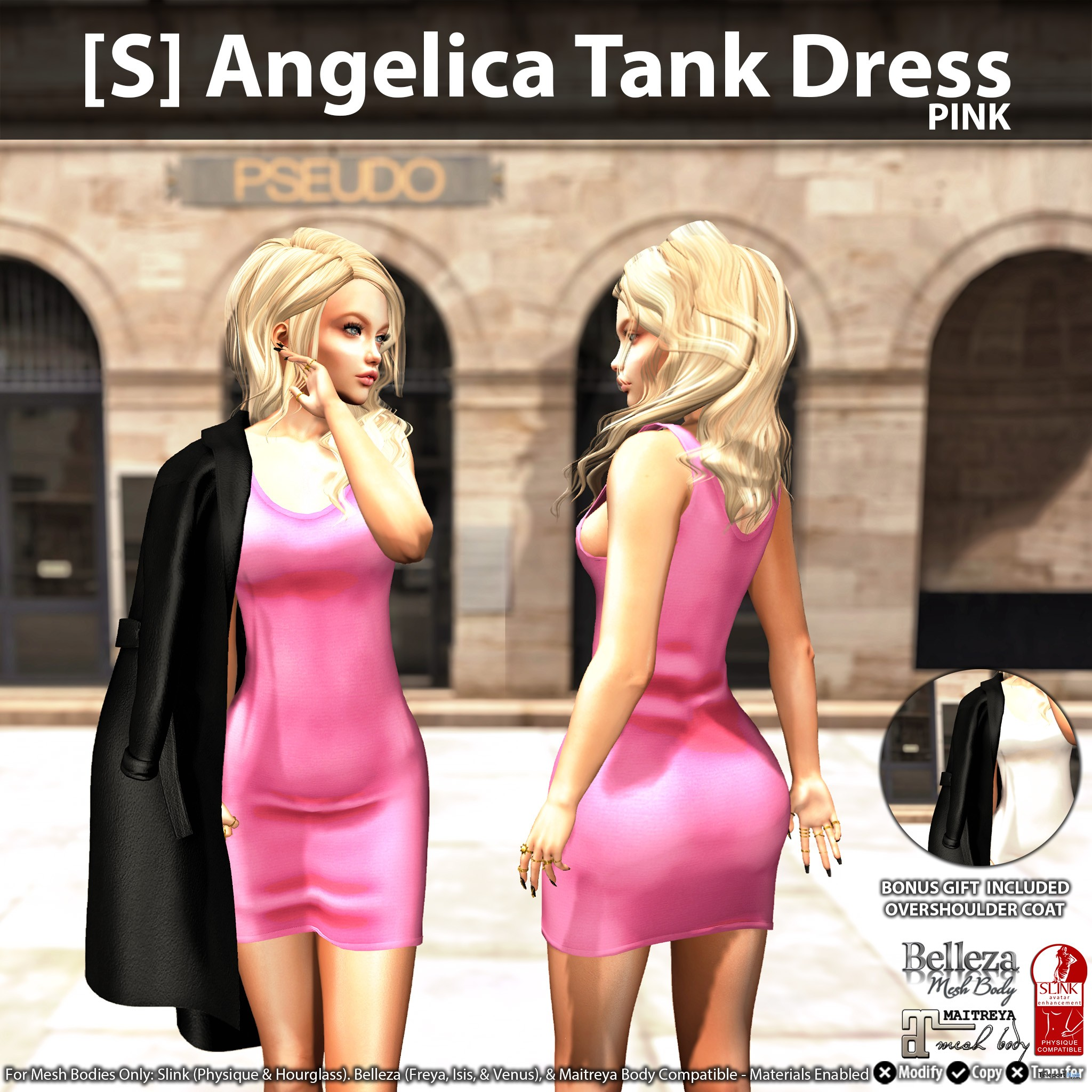 New Release: [S] Angelica Tank Dress by [satus Inc] - Teleport Hub - teleporthub.com