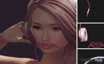 Cutie Lips Unplugged Headphones Au Lovely September 2018 Event Gift by Black Bantam - Teleport Hub - teleporthub.com