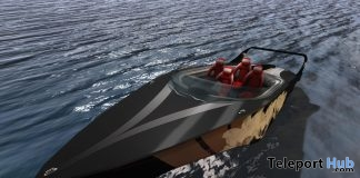 New Release: Black Lily Speed Boat by [sau] motors @ Man Cave Event September 2018 - Teleport Hub - teleporthub.com