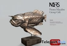 Pirana Macabre Statue October 2018 Group Gift by N4RS - Teleport Hub - teleporthub.com