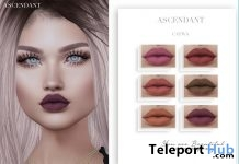 Matte Lipstick For CATWA Head October 2018 Group Gift by Ascendant - Teleport Hub - teleporthub.com
