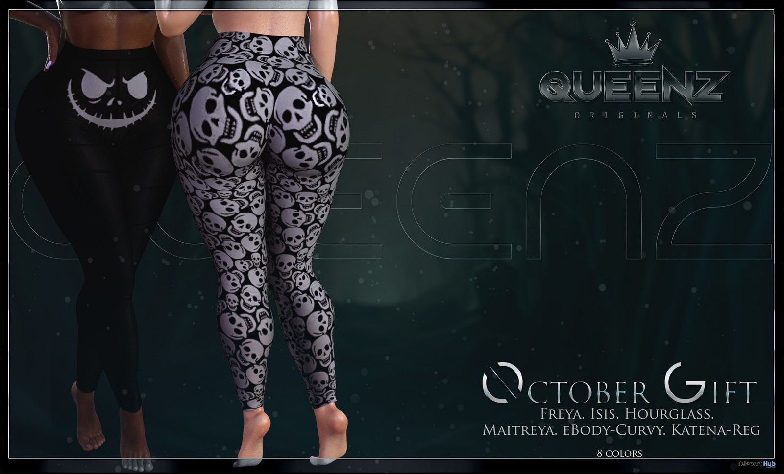 Hallow Leggings October 2018 Group Gift by QUEENZ - Teleport Hub - teleporthub.com