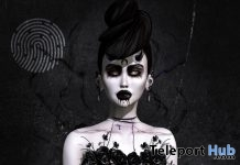 Halloween Skin For Female Head & Body Applier October 2018 Group Gift by Clef de Peau - Teleport Hub - teleporthub.com