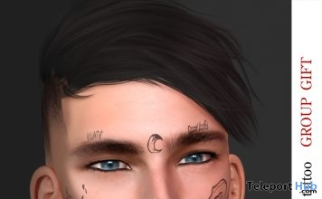 Face Tattoo Hip #1 For Catwa Head October 2018 Group Gift by Le gene - Teleport Hub - teleporthub.com