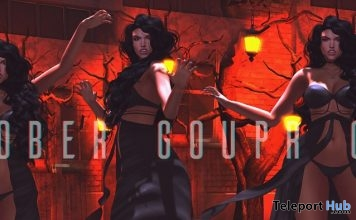Halloween Female Poses October 2018 Group Gift by Belle Poses - Teleport Hub - teleporthub.com