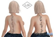 Pink & Blue Butterflies Tattoos October 2018 Group Gift by Lush - Teleport Hub - teleporthub.com