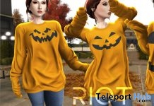 Nora Pumpkin Sweaters October 2018 Group Gift by RIOT - Teleport Hub - teleporthub.com