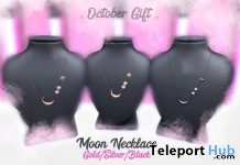 Moon Necklace Fatpack October 2018 Group Gift by CLOCKHAUS - Teleport Hub - teleporthub.com