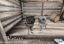 Skeletons Owl October 2018 Group Gift by Thunk! - Teleport Hub - teleporthub.com