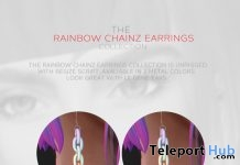 Rainbow Chainz Earrings October 2018 Group Gift by VERA - Teleport Hub - teleporthub.com