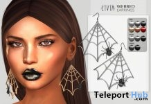 Webbed Earrings Halloween 2018 Group Gift by LIVIA - Teleport Hub - teleporthub.com