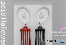 Blood Earrings Halloween 2018 Gift by VO.Z - Teleport Hub - teleporthub.com