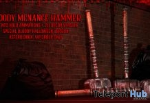 Bloody Menace Hammer October 2018 Group Gift by Asteroidbox - Teleport Hub - teleporthub.com