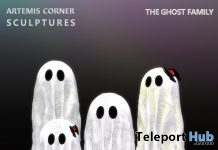 The Ghost Family October 2018 Group Gift by Artemis Corner Sculptures - Teleport Hub - teleporthub.com
