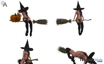 Broom & Witch Hat Halloween 2018 Gift by Almita - Teleport Hub - teleporthub.com