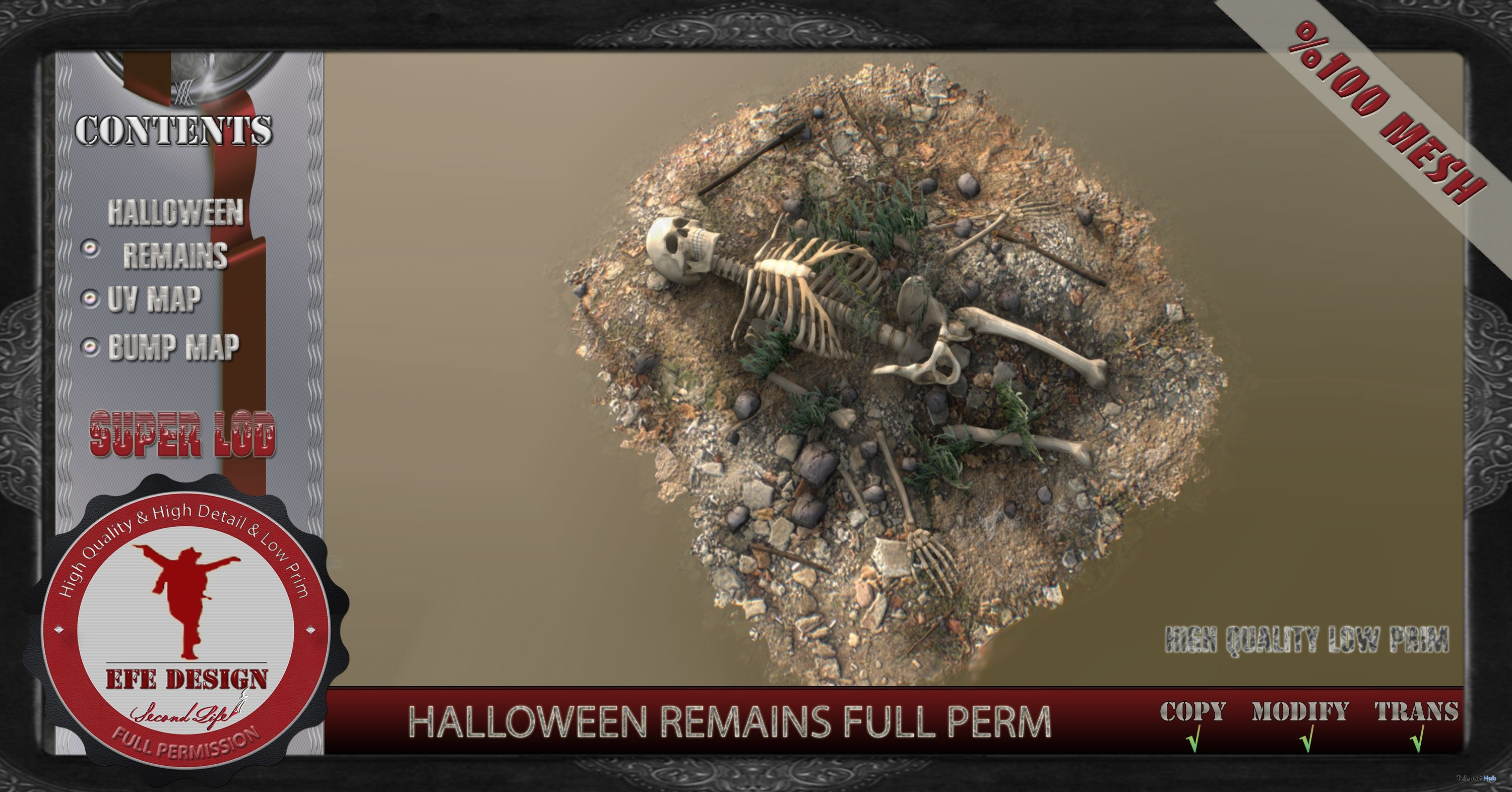 Halloween Remain Full Perm 1L Promo by EFE DESIGN - Teleport Hub - teleporthub.com