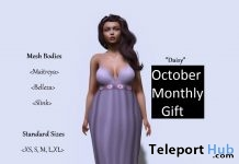 Purple Dress October 2018 Group Gift by Catch The Moment - Teleport Hub - teleporthub.com