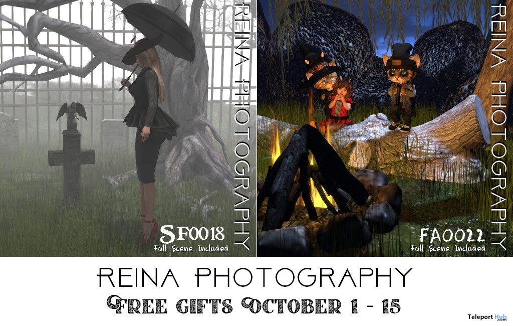 Single & Group Poses October 2018 Gifts by Reina Photography - Teleport Hub - teleporthub.com