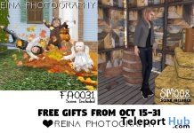 Kid Group Pose & Male Single Pose October 2018 Gifts by Reina Photography - Teleport Hub - teleporthub.com