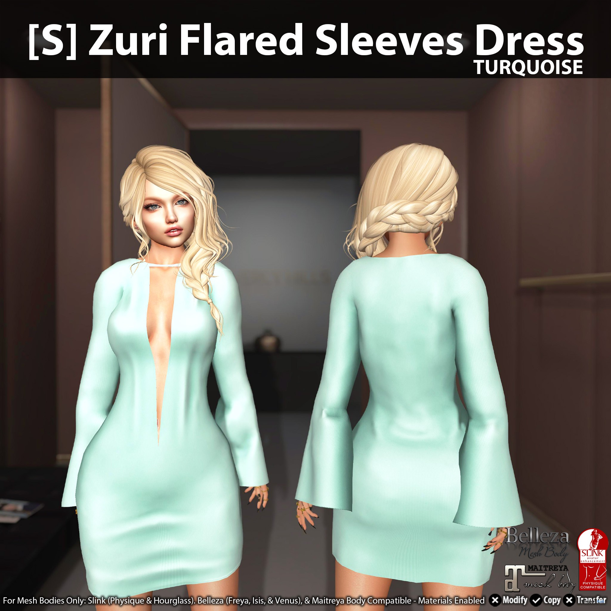 New Release: [S] Aarona Belted Jacket & Skirt by [satus Inc] - Teleport Hub - teleporthub.com