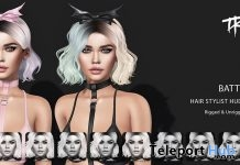Batty Hair Fatpack With Style HUD October 2018 Group Gift by TRUTH - Teleport Hub - teleporthub.com