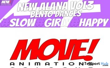 New Release: Alana Vol 3 Bento Dance Pack by MOVE! Animations Cologne - Teleport Hub - teleporthub.com