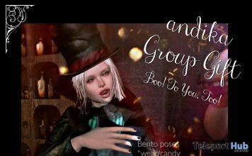 Boo! To You, Too! Bento Pose Pack October 2018 Group Gift by Andika - Teleport Hub - teleporthub.com