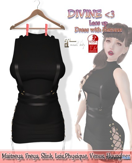 Laceup Dress With Harness 1L Promo Gift by DIVINE - Teleport Hub - teleporthub.com