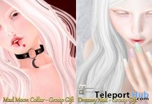 Mad Moon Collar & Dreamy Nail October 2018 Group Gift by MEL - Teleport Hub - teleporthub.com