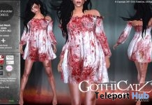 Bloody Off Shoulder Dress Halloween 2018 Gift by GothiCatz - Teleport Hub - teleporthub.com