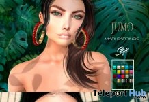 Carola & Mari Earrings October 2018 Group Gift by JUMO - Teleport Hub - teleporthub.com