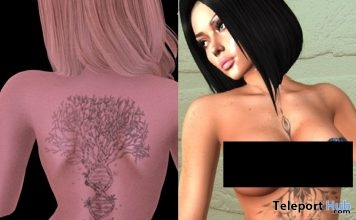 Arbre DeVie Back Tattoo & Yang Chest Tattoo October 2018 Gifts by Le Petit Paradis - Teleport Hub - teleporthub.com