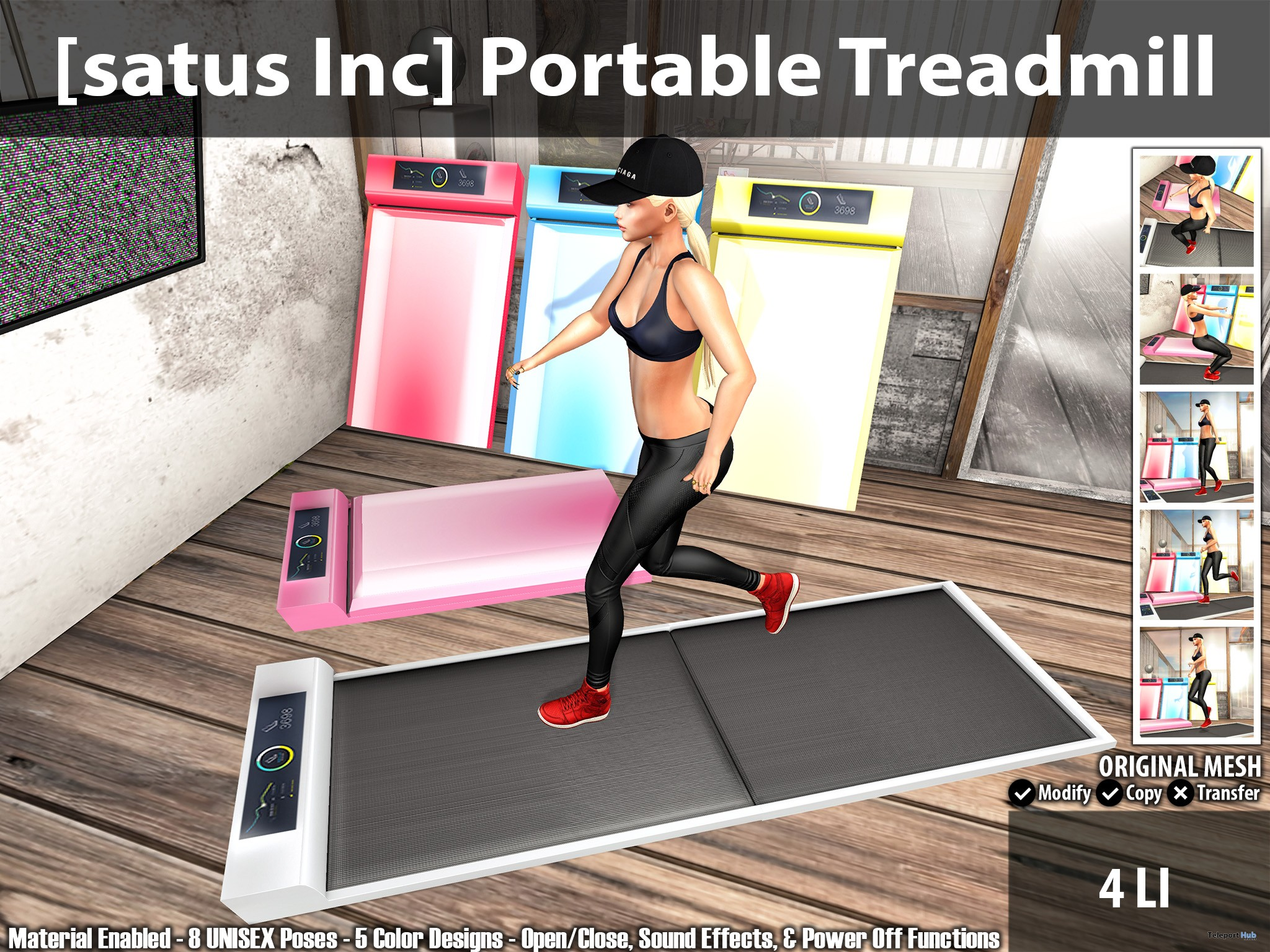 New Release: Portable Treadmill by [satus Inc] - Teleport Hub - teleporthub.com
