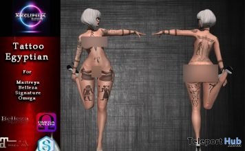 Egyptian Style Unisex Body Tattoo 89L Promo by X ECLIPSE X - Teleport Hub - teleporthub.com