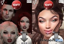 Vampire & Evil Smile Full Face Expressions & Gestures November 2018 Gift by CATWA - Teleport Hub - teleporthub.com